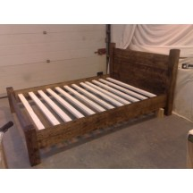 Farmhouse Plank Bed Low Foot Board