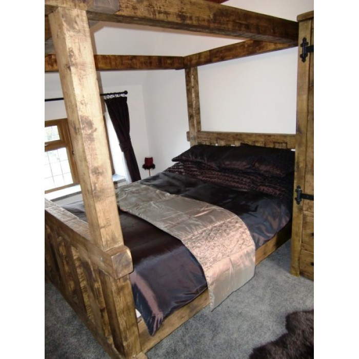 Chunky four poster bed for Wooden four poster bed
