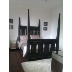 Black Tapered 4-Post Bed