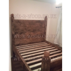 Farmhouse Plank High Panel Bed