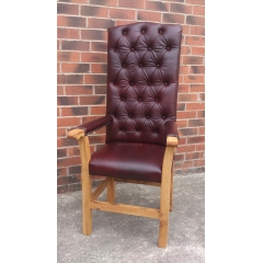 Leather Caver Chair Large