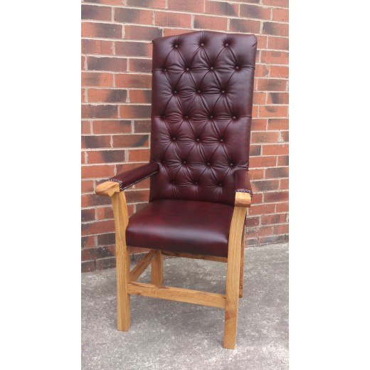 Leather Carver Chair Large