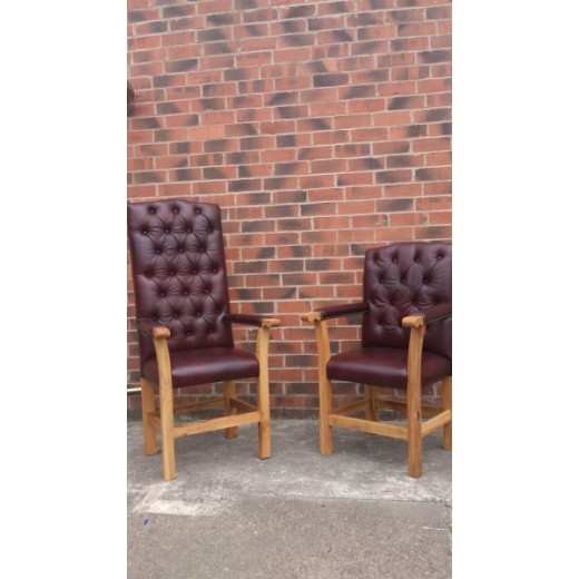 Leather Caver Chair Small
