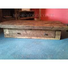 Coffee Table with Drawer Oak