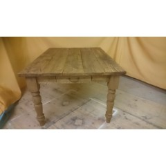 Plank Dining Table with End Drawers