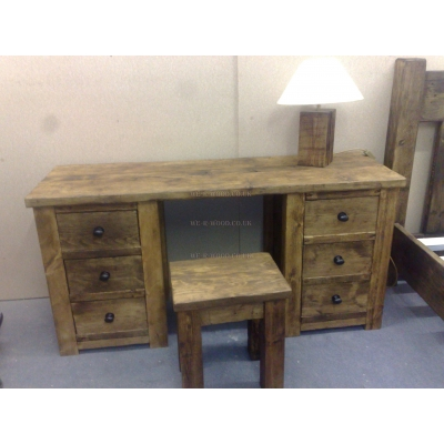 Dresser 3x3 with 6 Drawers & Stool