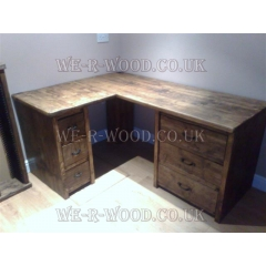 Dresser Corner with 6 Drawers & Stool