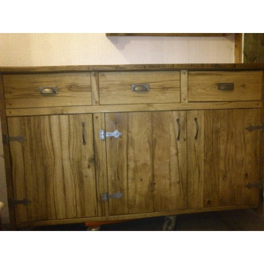 Oak Sideboard with Doors and Drawers