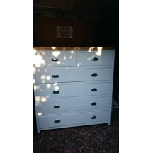 White Chest of Drawers Set 2 Over 4