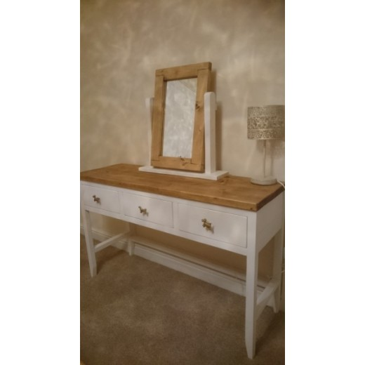White Dresser with 3 Drawers & Mirror