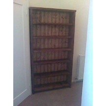 Tall Oak Bookcase with Shelf