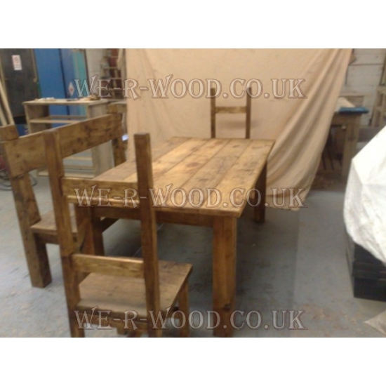 4x4 plank dining table For4x4 Dining Table