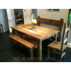 4x4 Plank Dining Table