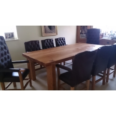 3 x 8 Slim Oak Beam Dining Table