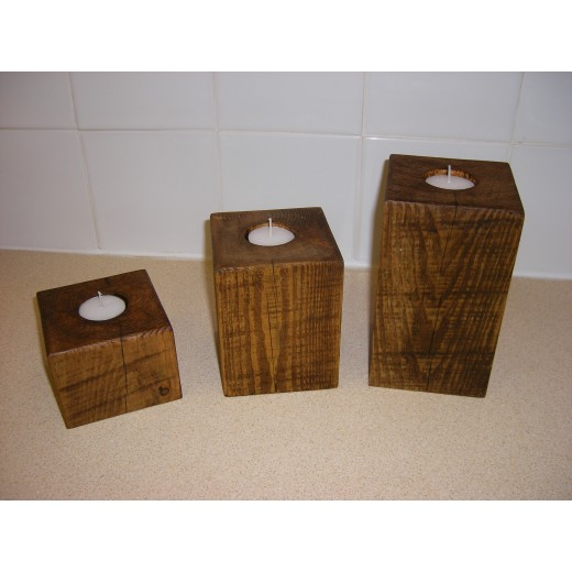 Set of 3 Block Candles