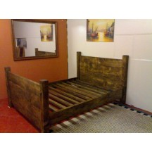 Farmhouse Plank Bed