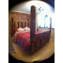 Slat High Headboard Bed