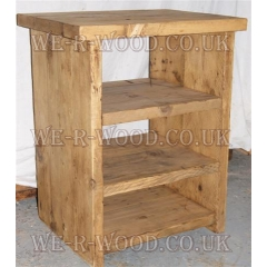 Bedside Table - Full Open with Two Shelves Adjustable
