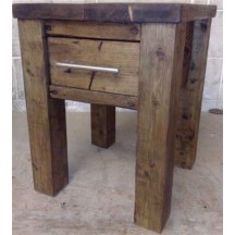 Bedside Table - 4 x 4 Post Top Small Draw Overlap