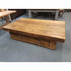 Coffee Table with Drawer Oak Finish