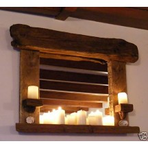 Candle Holder Mirror - Wide
