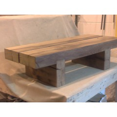 2 Beam Chunky Oak Table