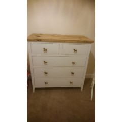 White Drawer Set 2 Over 3
