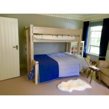 White Bunk Bed with Double Base