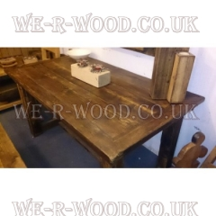 Plank Dining Table with 45 deg cut