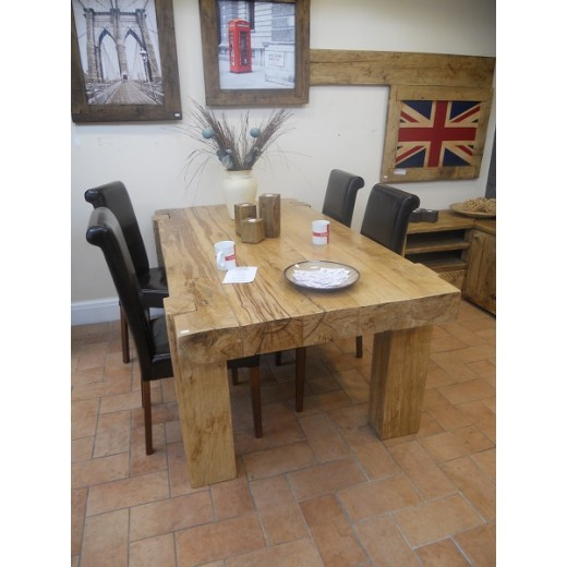 4 x 8 Oak Beam Dining Table