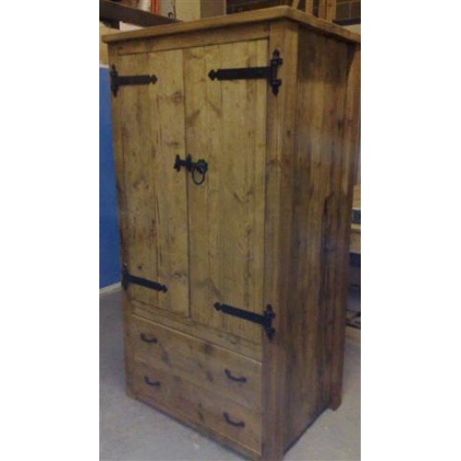 Wardrobe Double with 2 Drawer